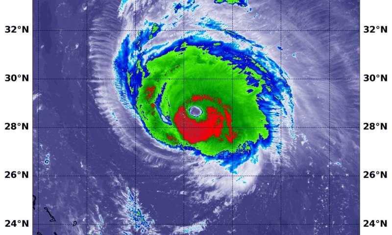 NASA-NOAA satellite analyzes rainmaker Hurricane Florence