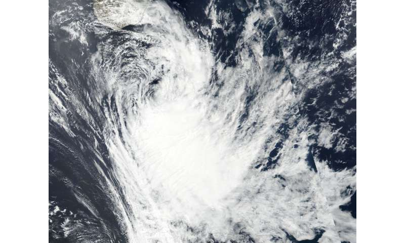NASA sees Tropical Cyclone Ava fizzling south of Madagascar