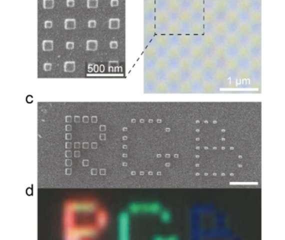 Silicon nanoblock arrays create vivid colors with subwavelength resolution