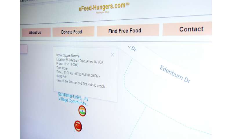 Software aims to reduce food waste by helping those in need
