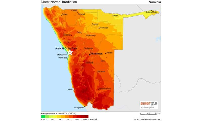 Solar heat could make power + water for Namibia: Study