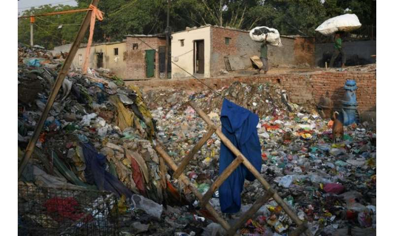 Taimur Nagar is one of many slums in Delhi and countless other Indian cities struggling to cope with waste, particularly plastic