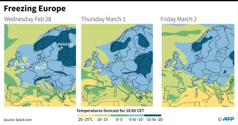 Temperatures are expected to rise in parts of Europe from Friday