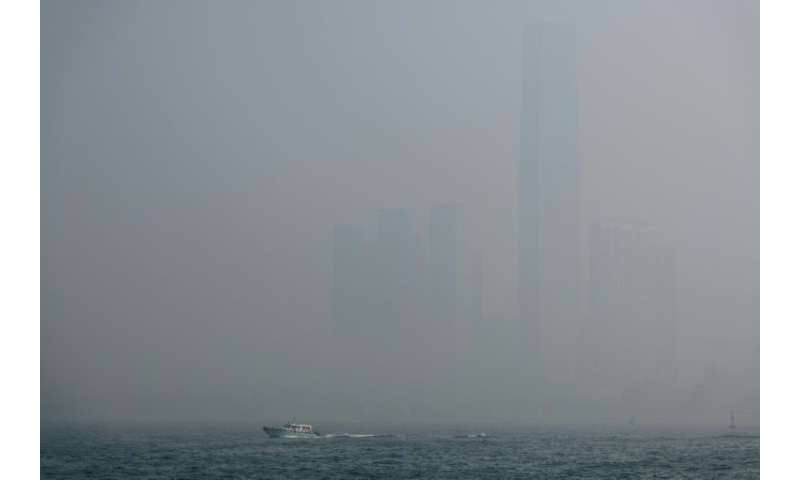 The government said pollution in Hong Kong was higher than normal and that the risk to health was 'very high'