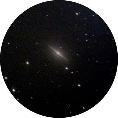 The sombrero galaxy seen from cities