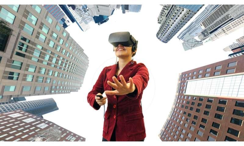 Using virtual reality to plot urban green spaces
