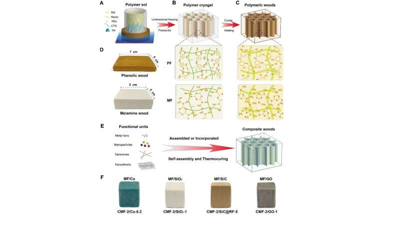 USTC develops a family of bioinspired artificial woods by traditional resins