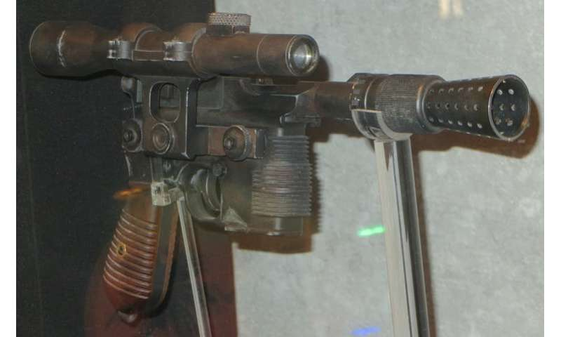 Versions of Han Solo's blaster exist – and they're way more powerful than real lightsabers would be