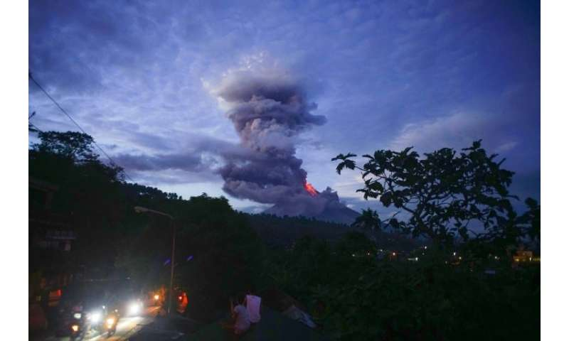 Volcanologists on Monday warned of a hazardous eruption within days