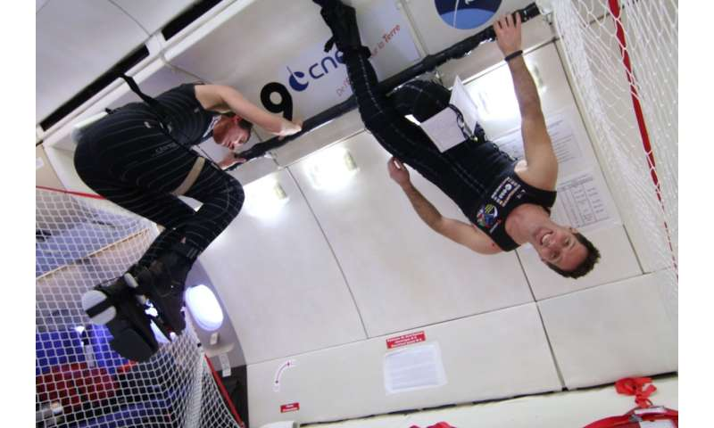Waterbeds simulate weightlessness to help skinsuits combat back pain in space