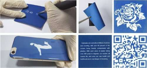 Write with heat, cool and then repeat with rewritable paper