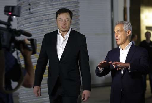 Musk company to build Chicago-to-O'Hare express transport (Update)