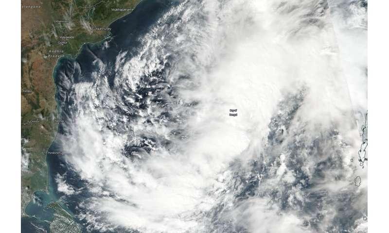 NASA-NOAA Satellite finds a large Tropical Cyclone Gaja