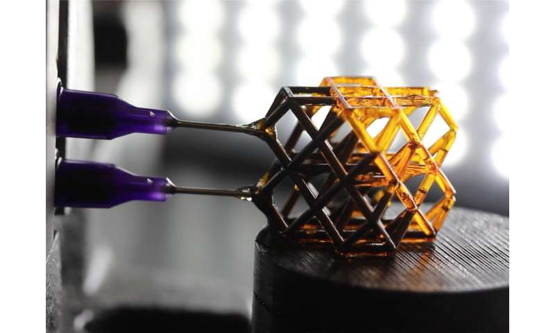 Engineers develop 3-D-printed metamaterials that change mechanical properties under magnetic fields
