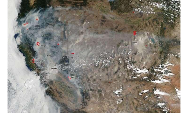 NASA satellite shows California shrouded in smoke