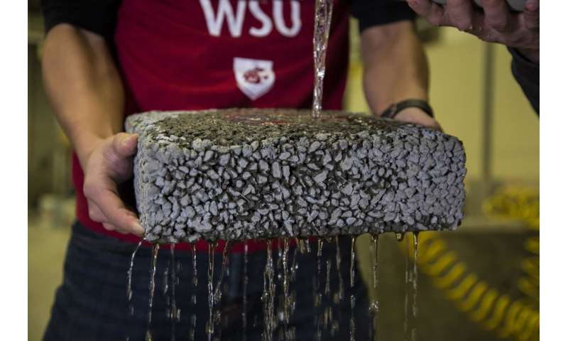 Researchers use recycled carbon fiber to improve permeable pavement