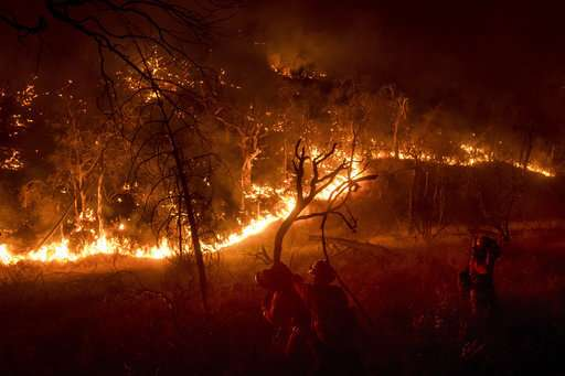 14,000 firefighters battling 18 major California blazes