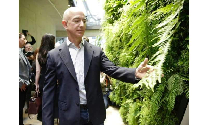 Amazon CEO Jeff Bezos, seen at the opening of the Amazon Spheres, in Seattle, Washington, has announced the internet giant will