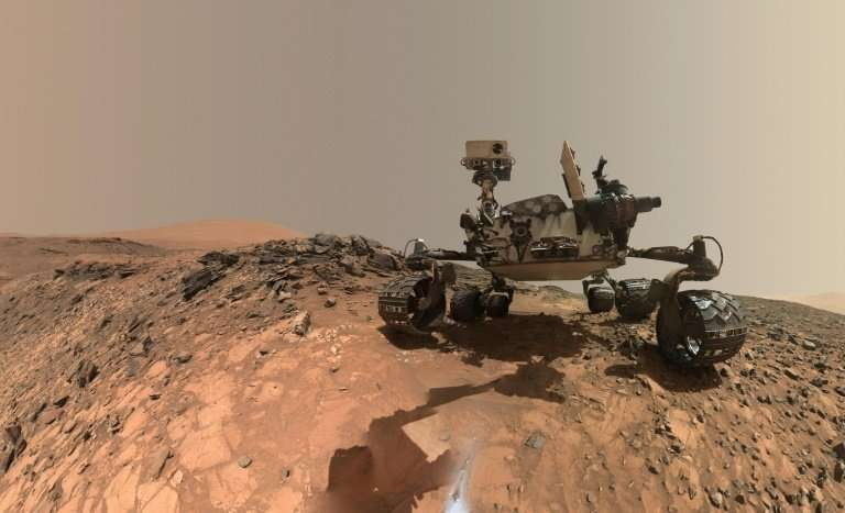A self-portrait of NASA's Curiosity rover taken on Mars on June 7, 2018