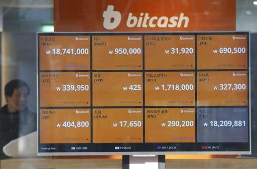 Bitcoin prices fall as South Korea says ban still an option