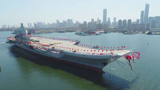China's first home-built aircraft carrier begins sea trials