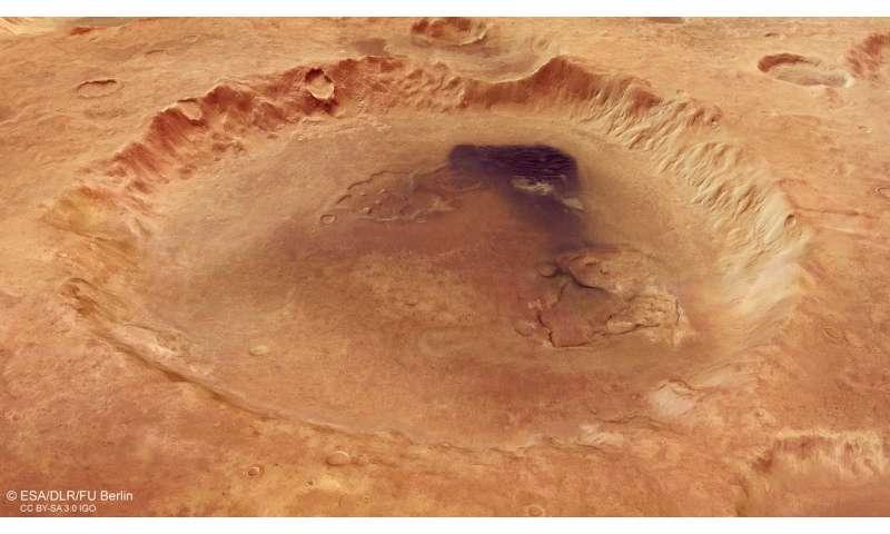 Crater Neukum named after Mars Express founder