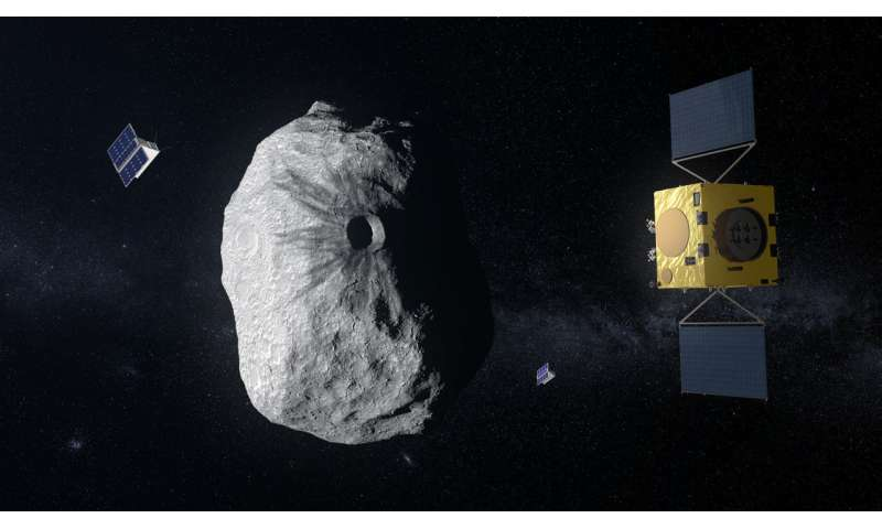 Earth's first mission to a binary asteroid, for planetary defence
