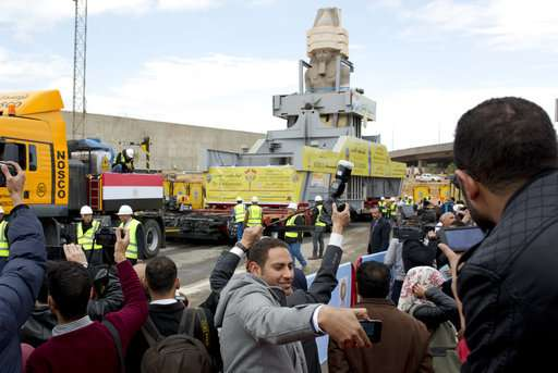 Egypt places colossus of Ramses II at new museum's entrance