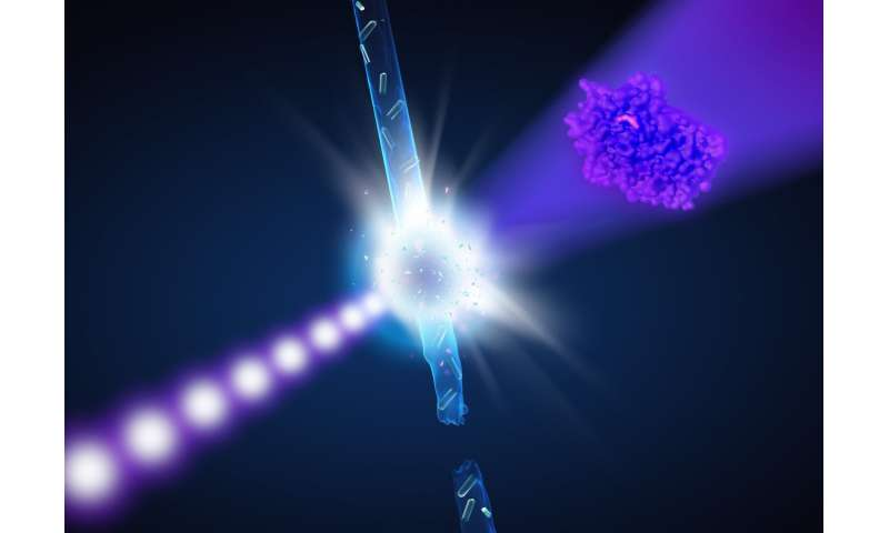 First experiments at new X-ray laser reveal unknown structure of antibiotics killer