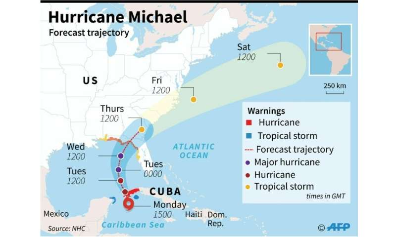 Hurricane Michael is expected to bring storm surges and heavy rainfall when it smashes into Florida midweek