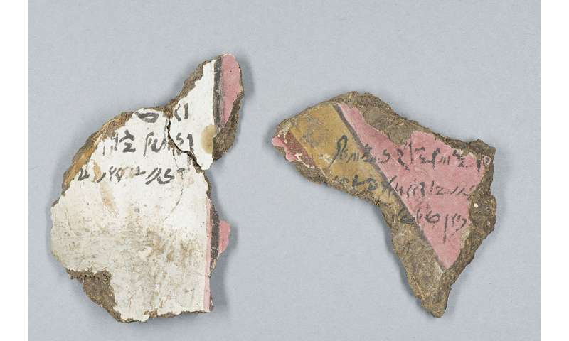 Inscriptions found on ancient Egyptian artifact damaged in 1906 quake