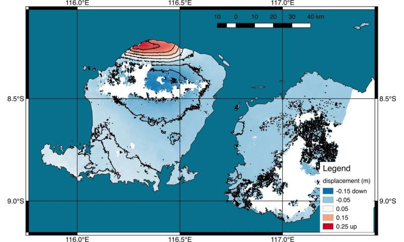 New satellite map shows ground deformation after Indonesian quake