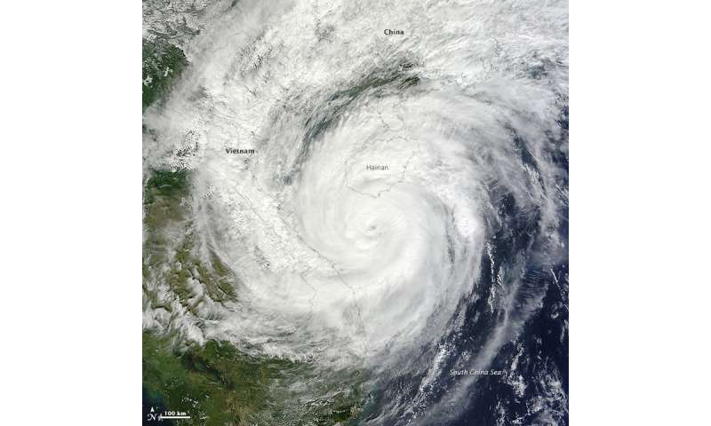 Pacific Ocean typhoons could be intensifying more than previously projected