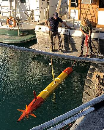 Self-driving robots collect water samples to create snapshots of ocean microbes