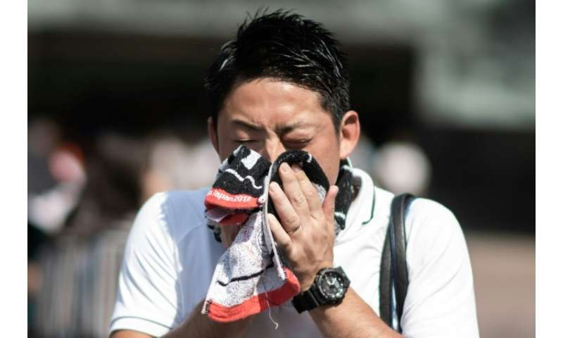 Temperatures rose above 40 degrees Celsius for the first time in Tokyo's metro area, with the national weather agency warning hi