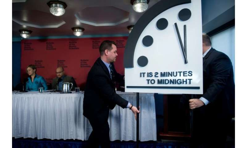 "The Bulletin of Atomic Scientists moved the ""Doomsday Clock""—which serves as a metaphor for how close humanity is to d"