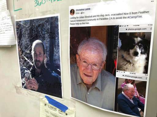 The hunt for missing, dead in California fire