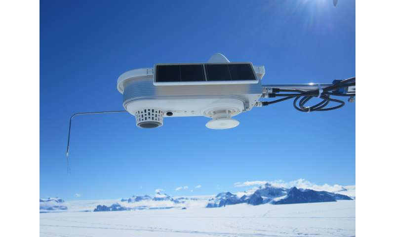 Warm wind melts snow in Antarctica in winter as well