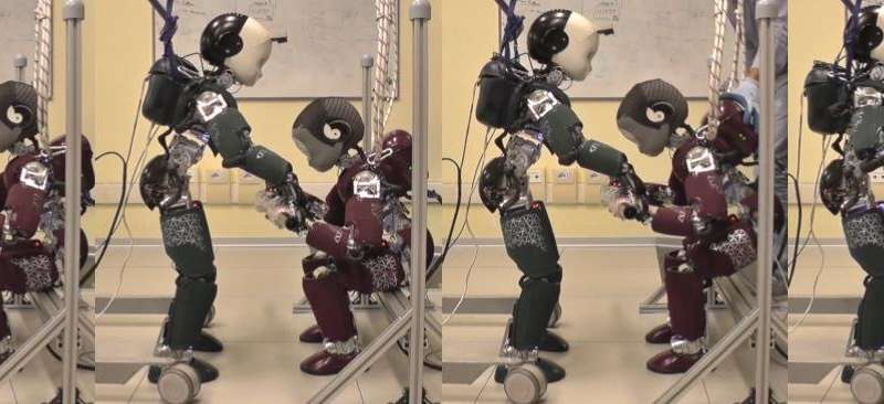 **Working towards partner-aware humanoid robot control