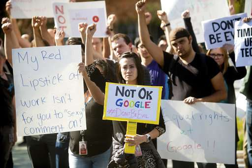 Google employees leave work to protest treatment of women