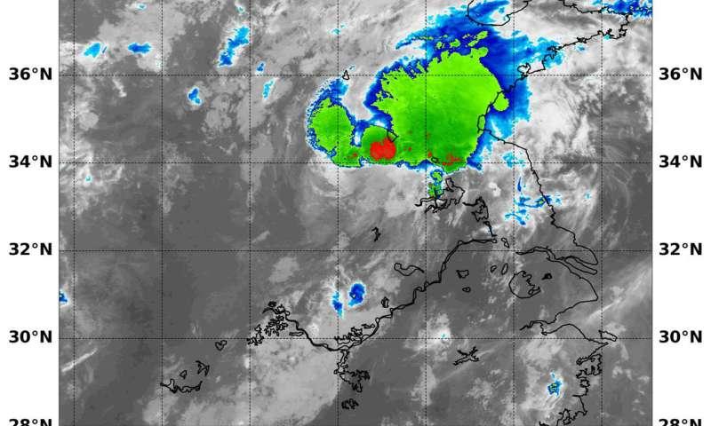 NASA sees Tropical Storm Yagi after China landfall