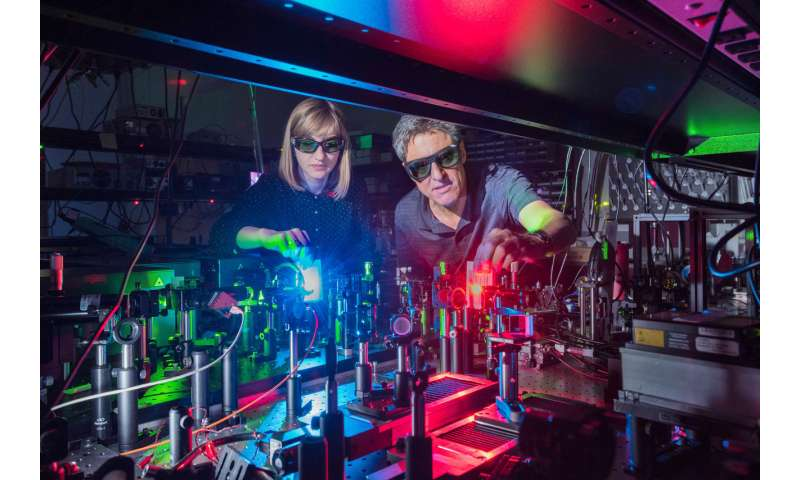 Researchers report first nanostructured material for broad mixing of light waves