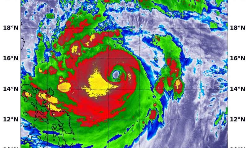 NASA satellite analyzes powerful super Typhoon Mangkhut