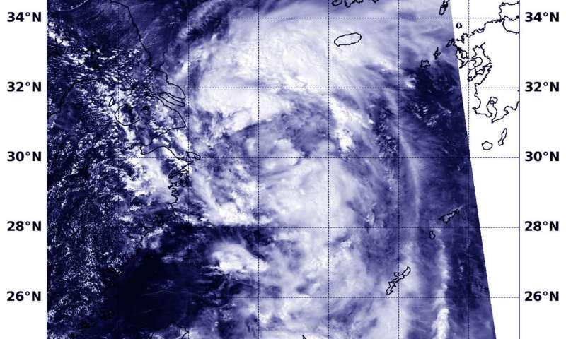 NASA sees Tropical Storm Rumbia off China's East Coast