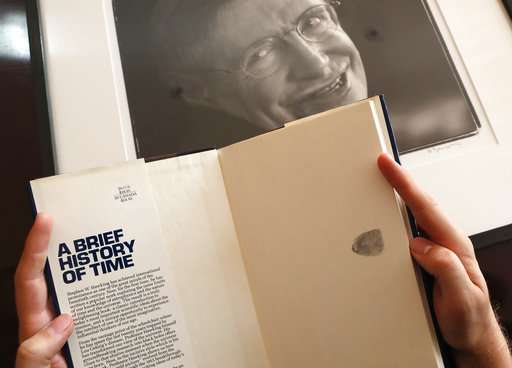 Stephen Hawking's wheelchair, thesis for sale