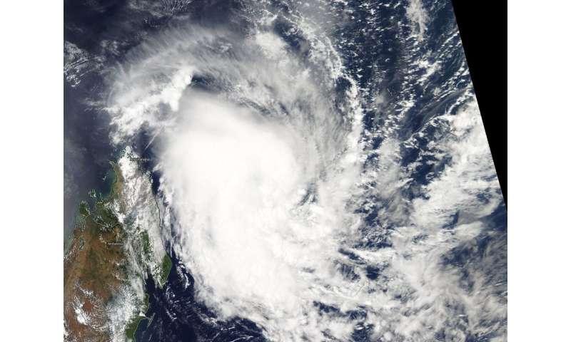 NASA satellite sees Tropical Cyclone Alcide nearing Madgascar
