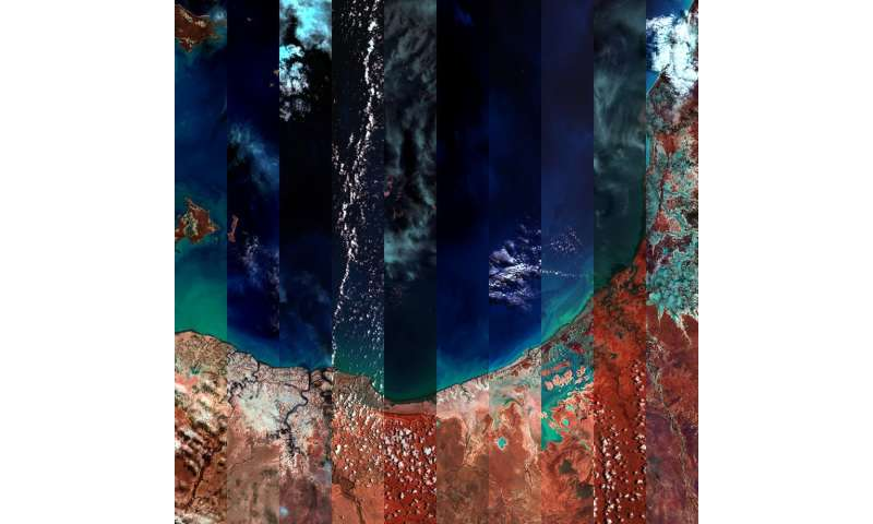 An artist's surreal view of Australia – created from satellite data captured 700km above Earth