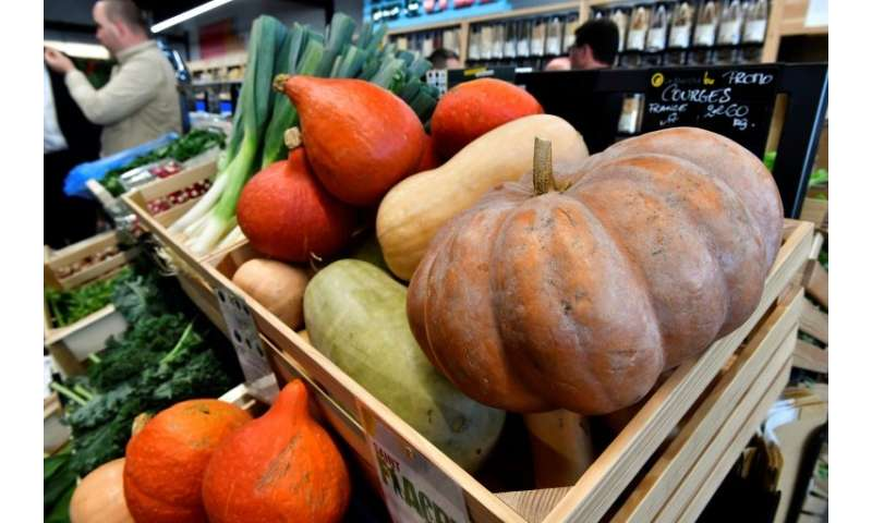 Consumption of organic produce, like these at an organic supermarket in western France, is on the rise, but can scientists reall
