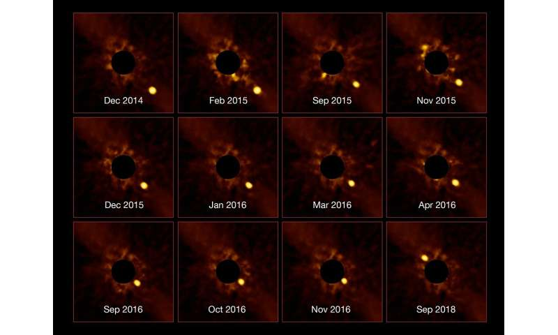 Direct observations of a planet orbiting a star 63 light-years away
