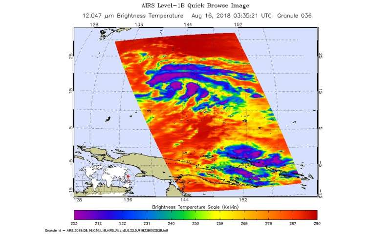 Infrared NASA imagery shows Tropical Storm Soulik strengthening